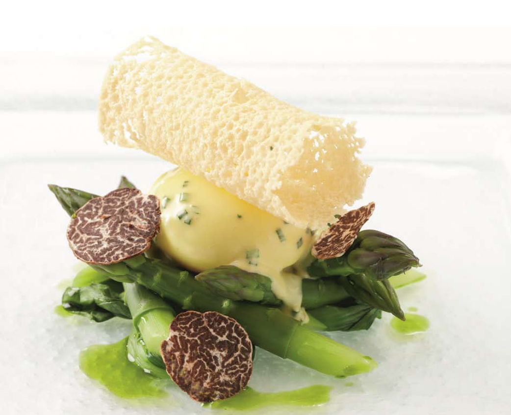 Jersey asparagus with truffle