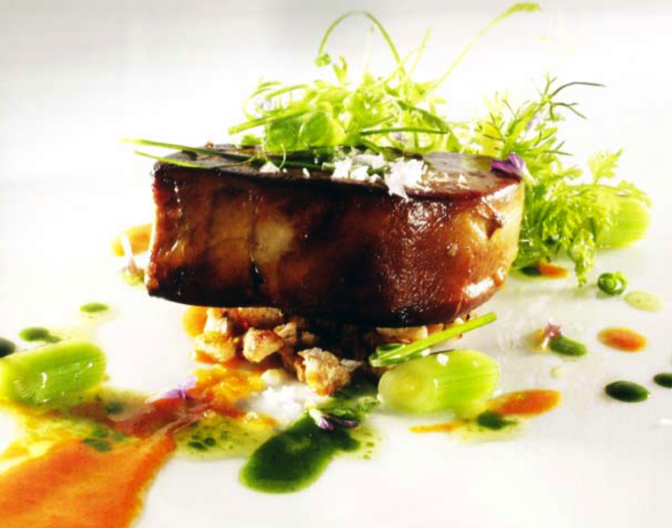 Warm salad of foie gras